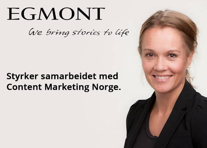 Egmont Publishing og Content Marketing Norge styrker samarbeidet.